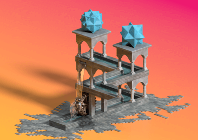 Escher Inspired Impossible Waterfall
